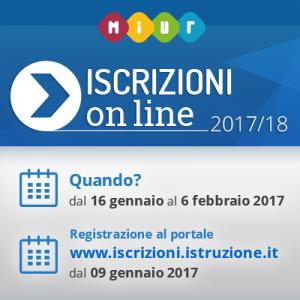 Iscrizioni alla scuola dell'infanzia, primaria e secondaria di primo grado per l'anno scolastico 2017/2018