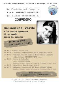 19 marzo: Convegno: Gelsomina Verde e la nostra speranza di un mondo senza la camorra